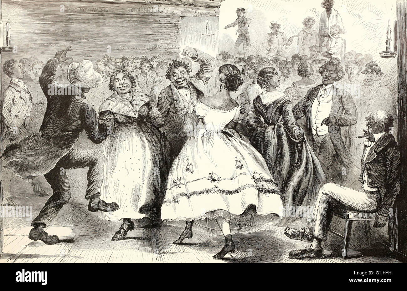 A New Year's Day contraband ball at Vicksburg, Mississippi during the USA Civil War - Stock Image