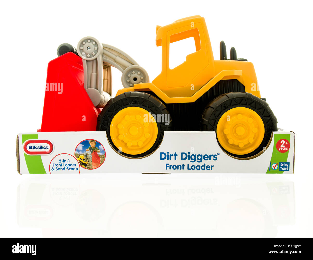 Winneconne, WI - 15 May 2016: Package of a Little Tikes dirt diggers on an isolated background - Stock Image