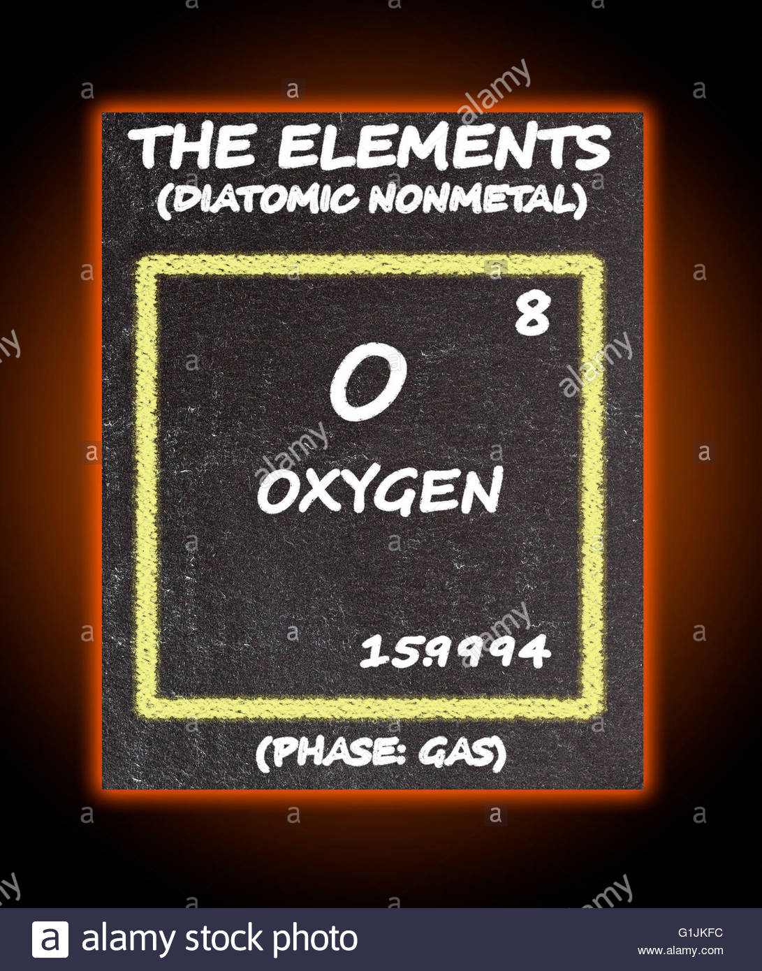 Periodic Table Elements Oxygen Stock Photos Periodic Table