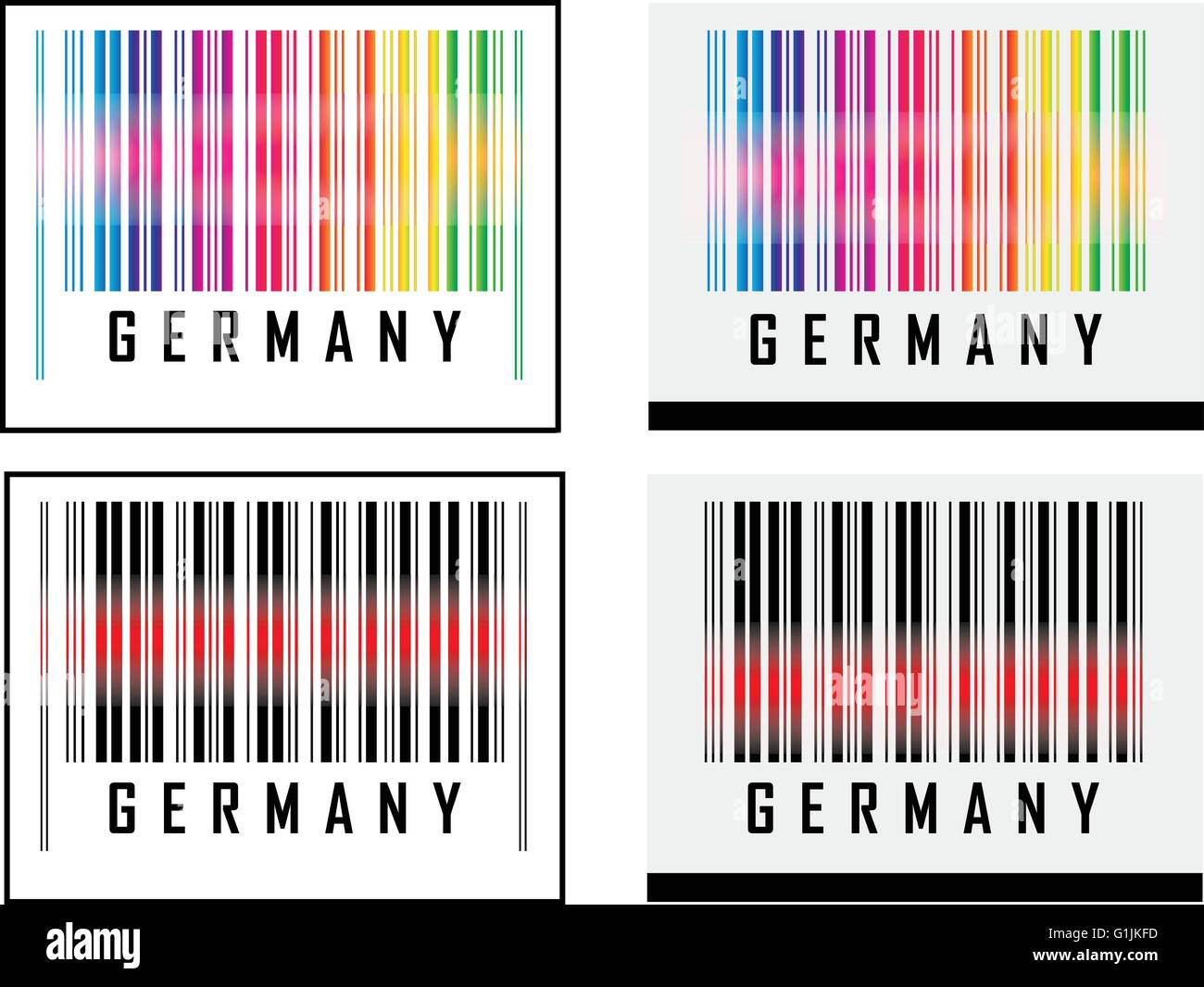 eps 10 vector illustration of barcode or bar code icon and red laser