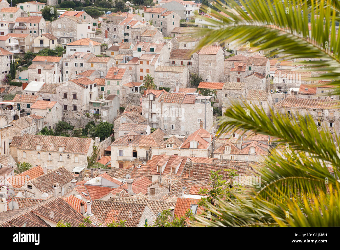 View of the city of Hvar, Croatia. - Stock Image