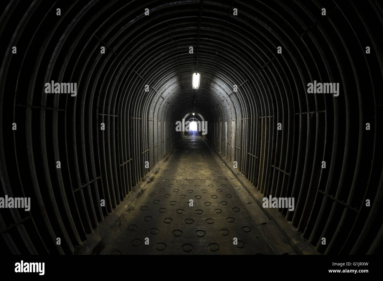 A view down a tunnel - Stock Image