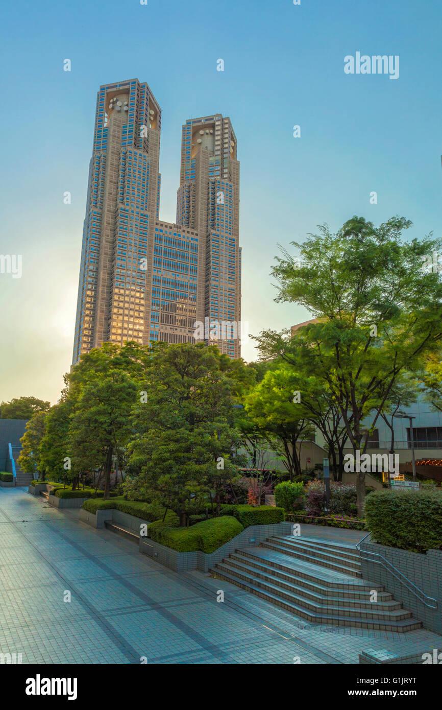 tokyo municipality building - Stock Image