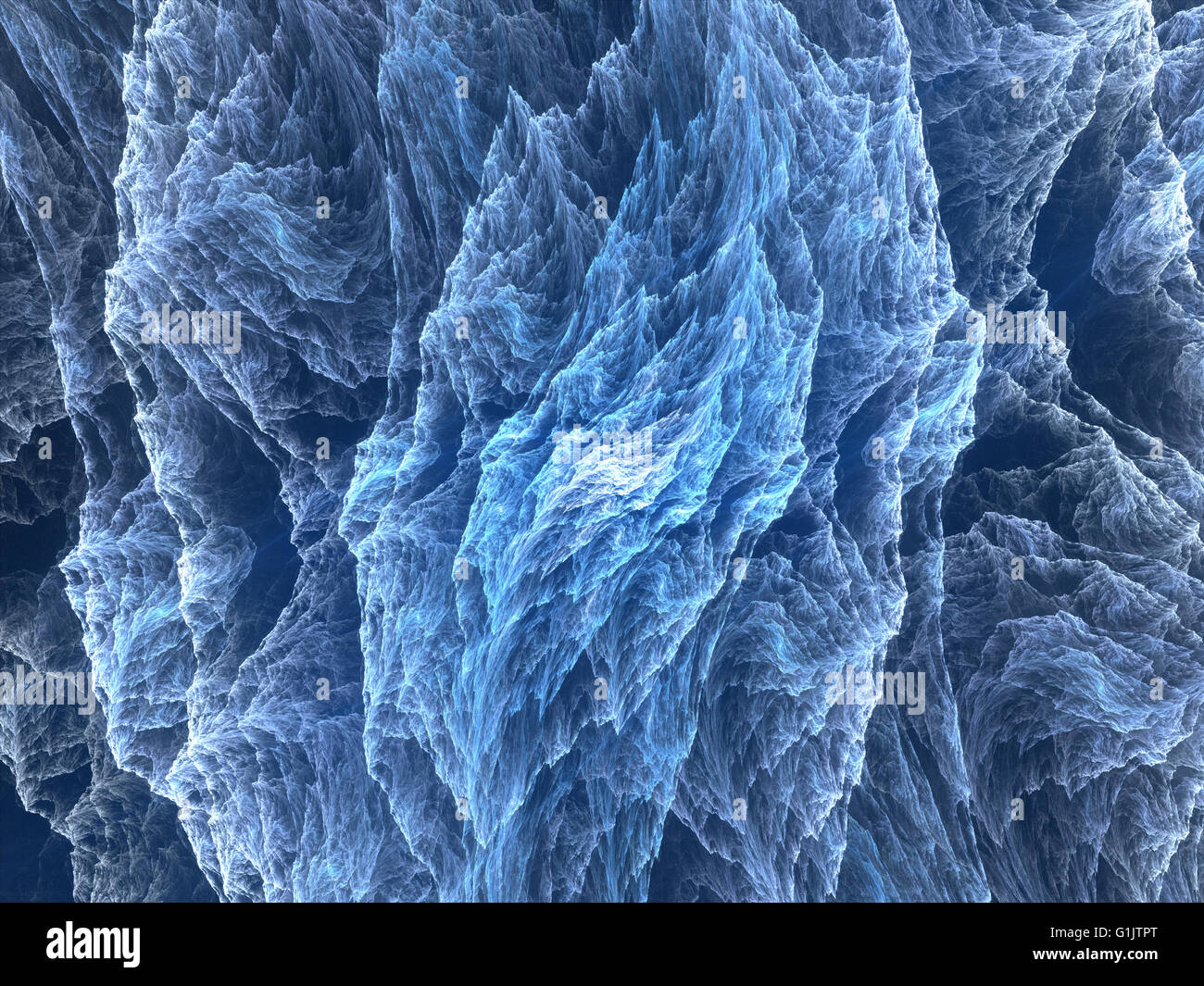 Blue glowing microscopic world, computer generated abstract background - Stock Image