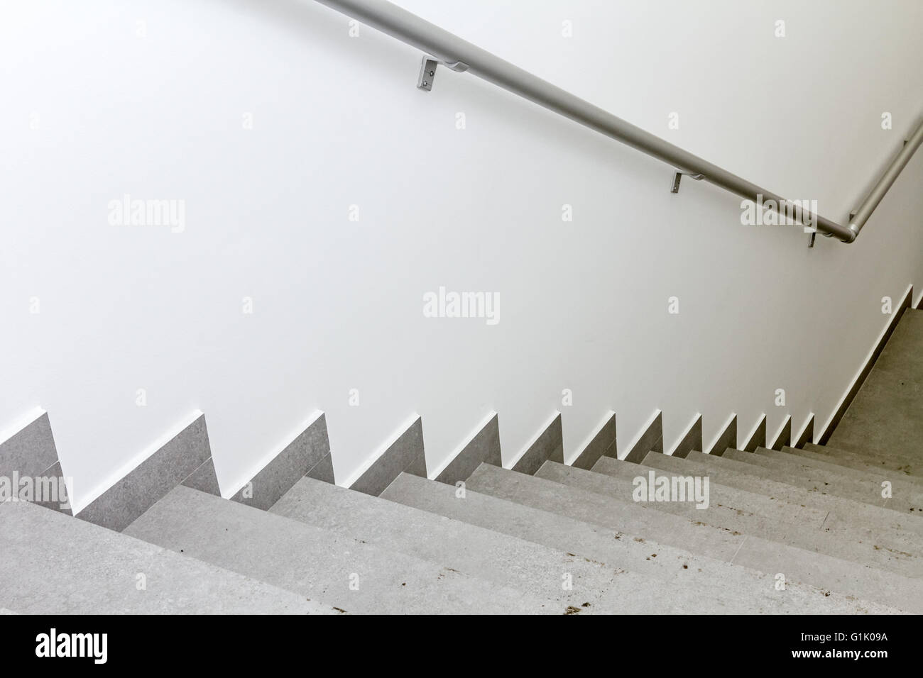 Every building is required to have emergency stairways as safety measure. - Stock Image
