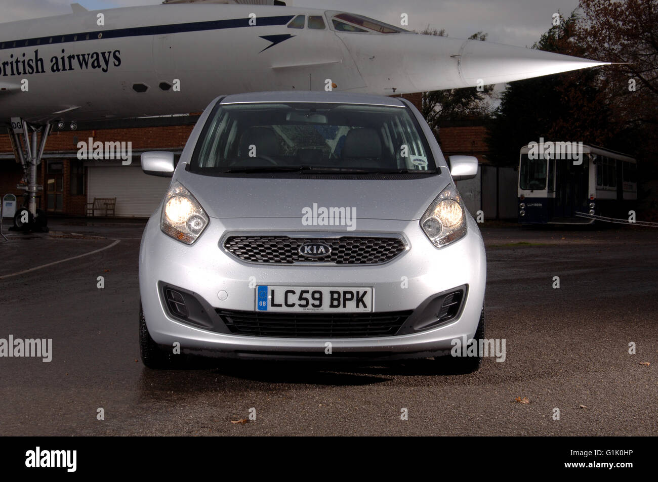 2009 Kia Venga small hatchback car - Stock Image