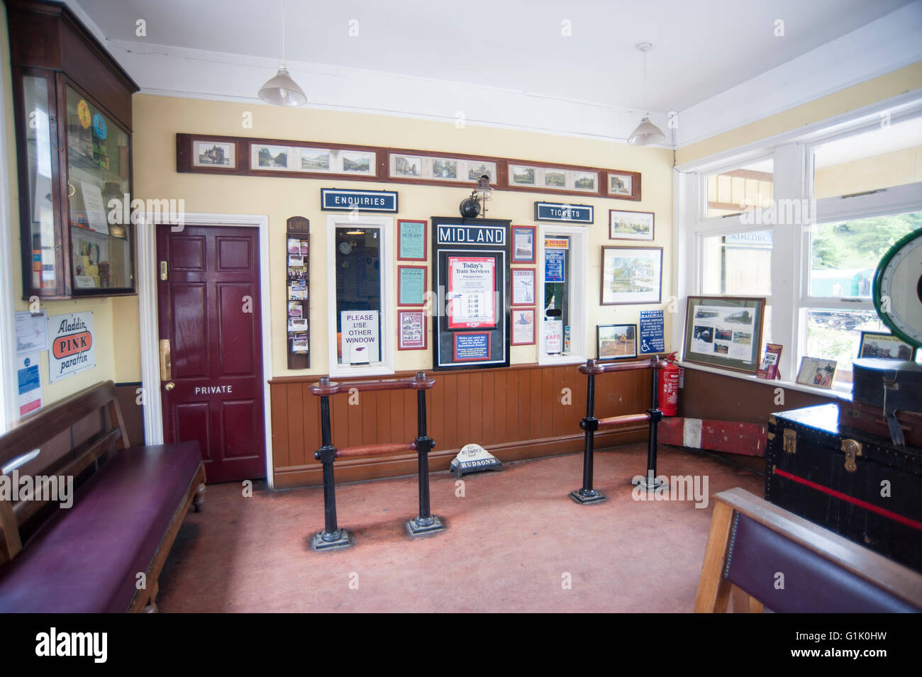 Old fashioned waiting room Stock Photo