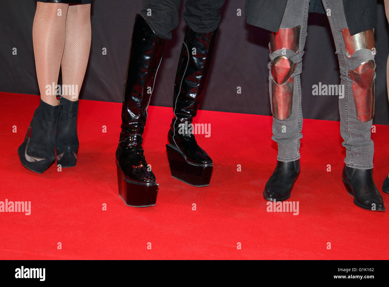 Shoe fashion on red carpet Stock Photo