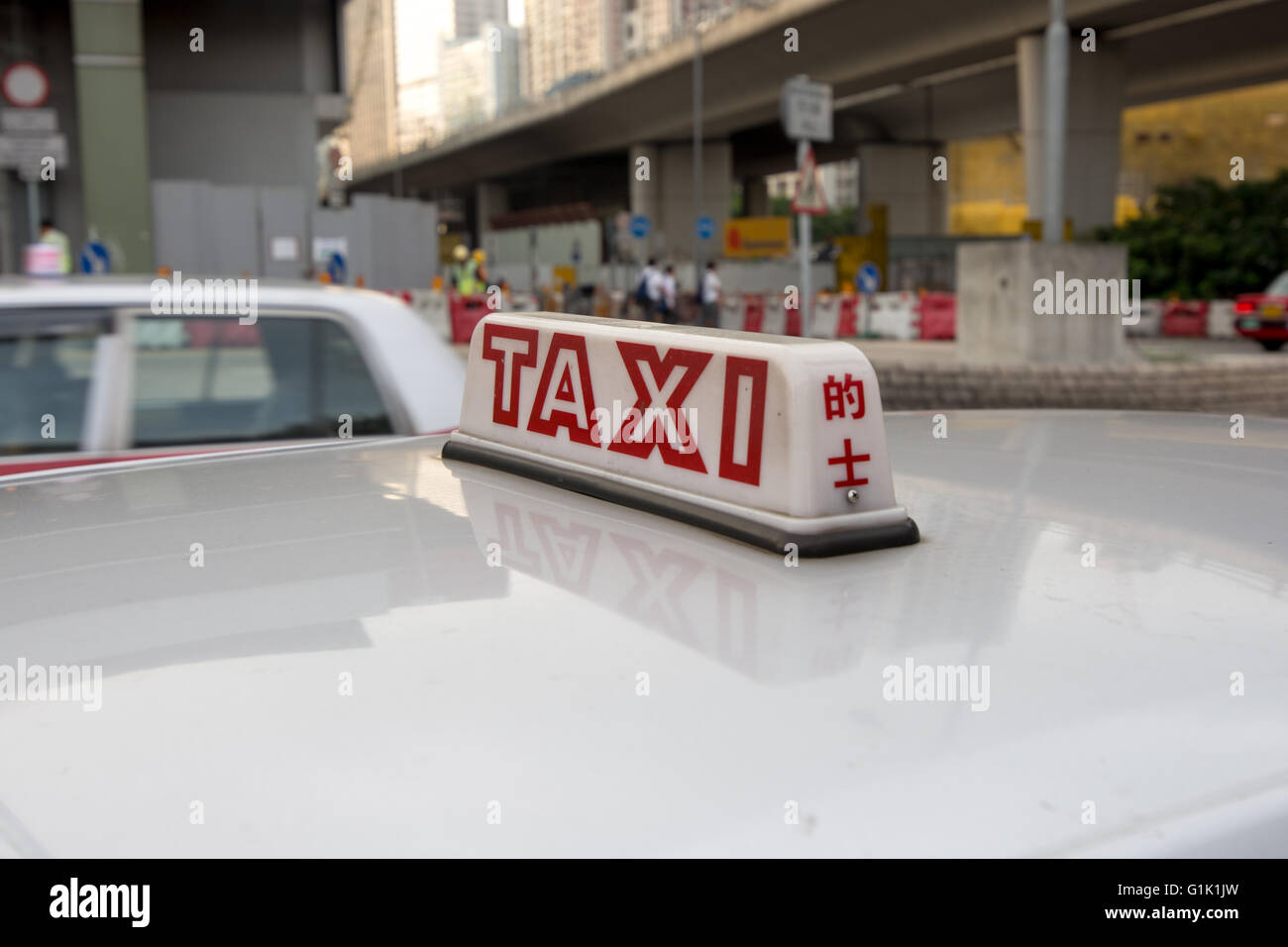 Taxi roof light Stock Photo: 104295265 - Alamy