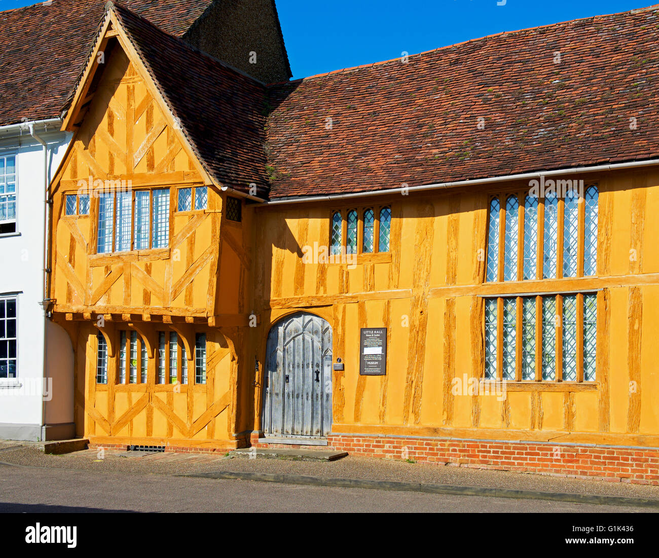 Little Hall, in the village of Lavenham, Suffolk, England UK - Stock Image