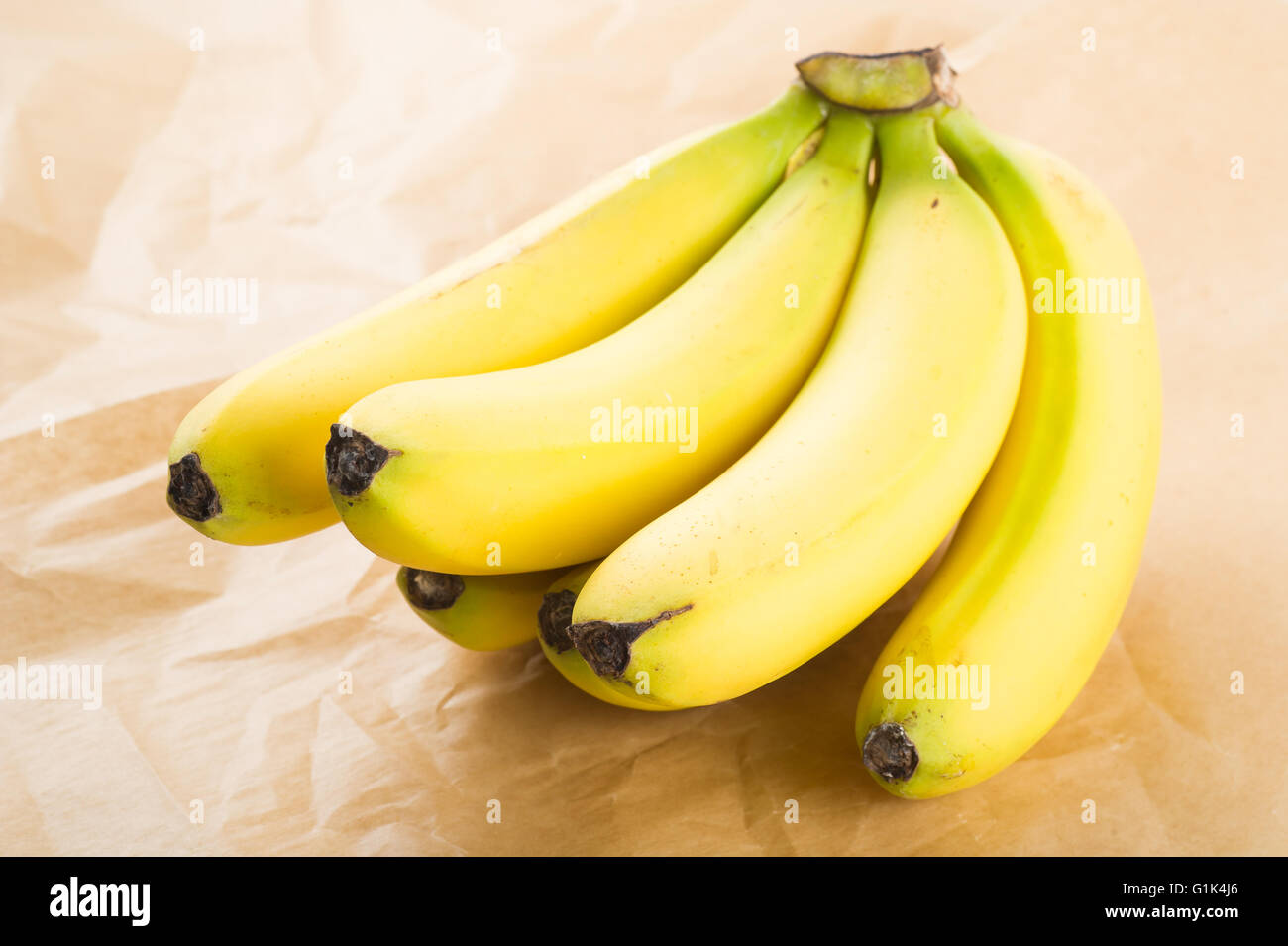 Fresh organic bananas - Stock Image