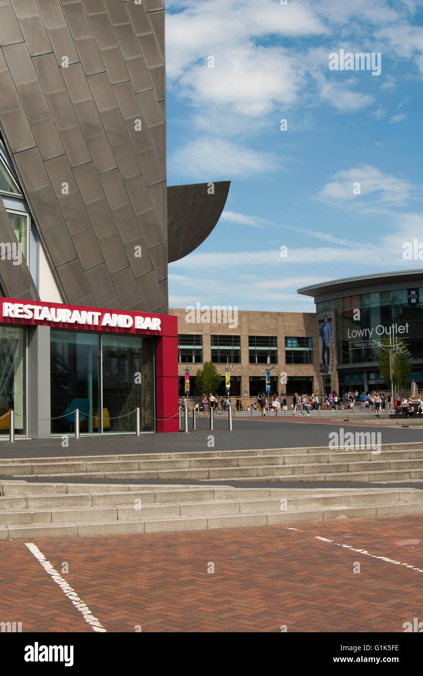 Salford Quays The Lowry and Shopping Outlet Stock Photo