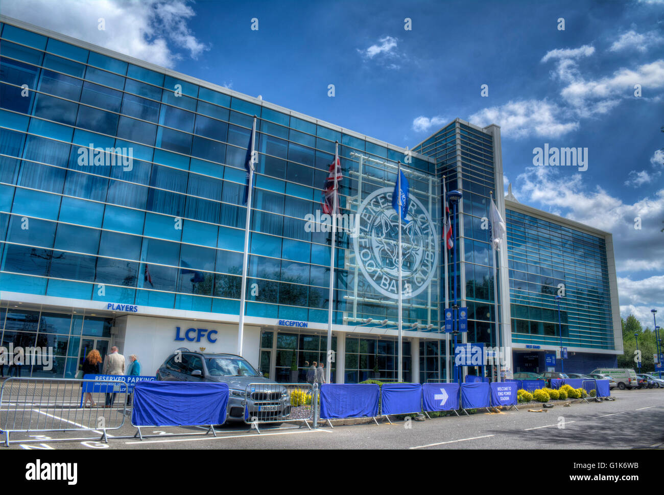 Image of the King Power Stadium home of the 2015/2016 Premier League Champions - Stock Image