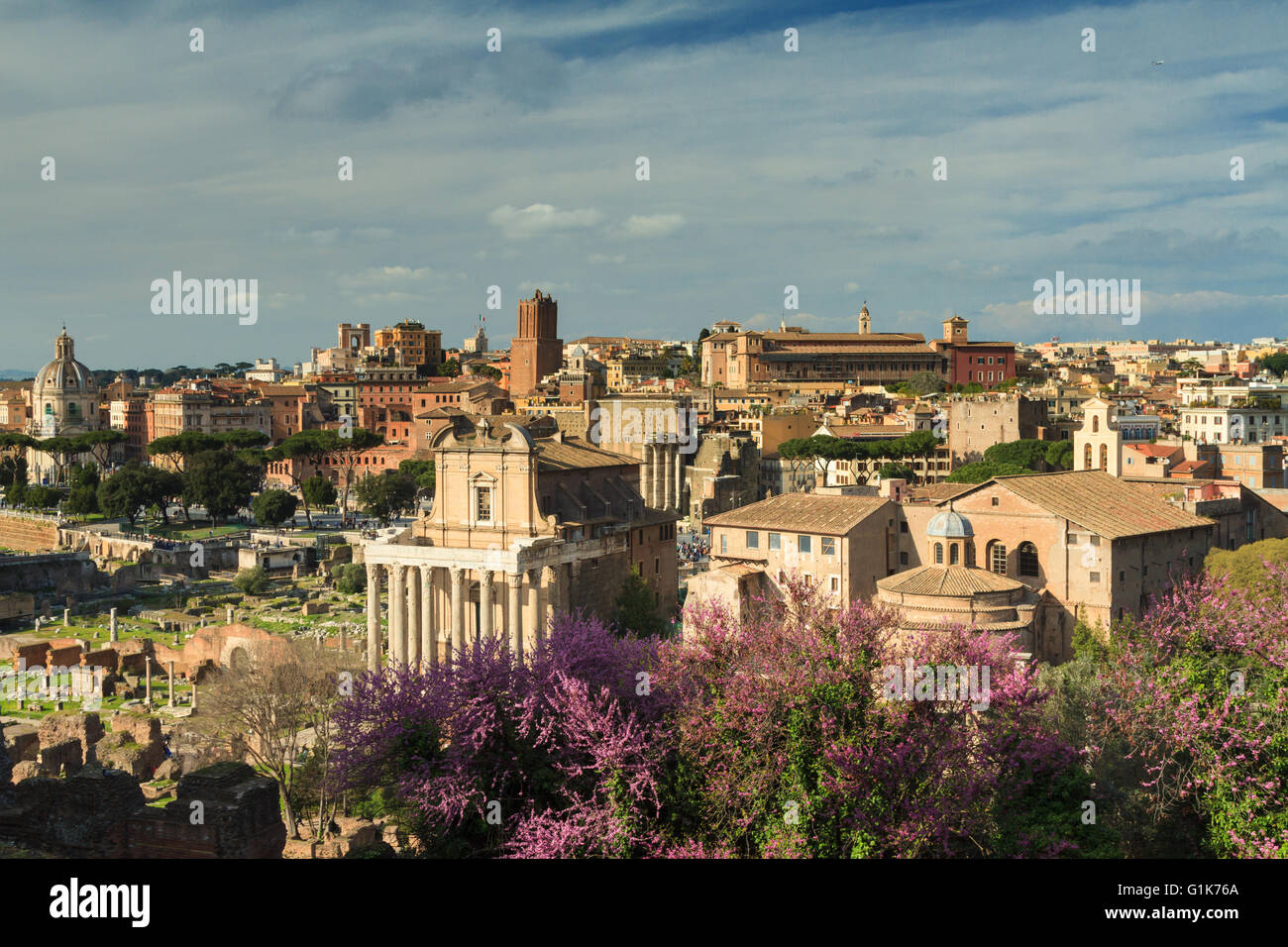 Viewpoint of the Forum Romanum, Rome, Italy - Stock Image