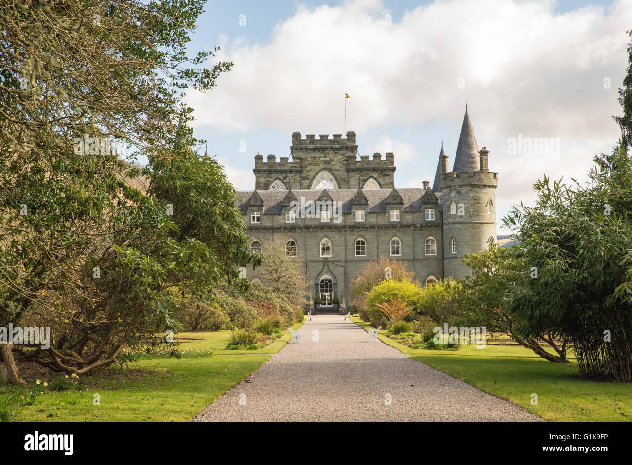 Inveraray Castle Scotland United Kingdom - Stock Image