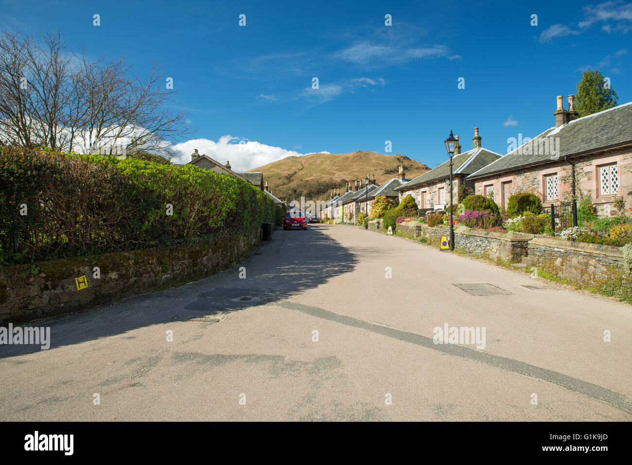 Luss Village Scotland United Kingdom - Stock Image