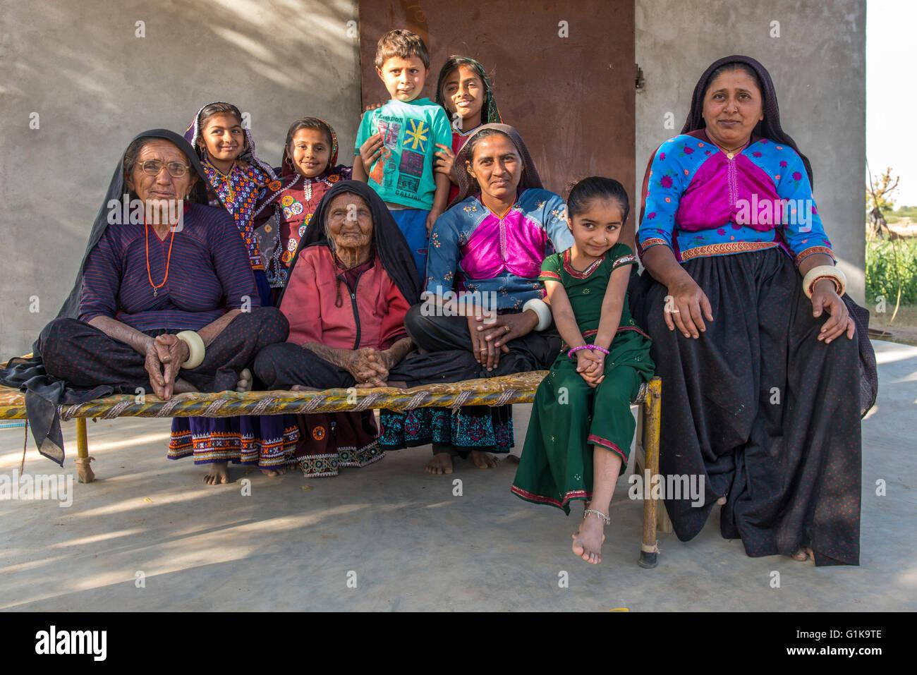 Ahir Family, Kutch - Stock Image