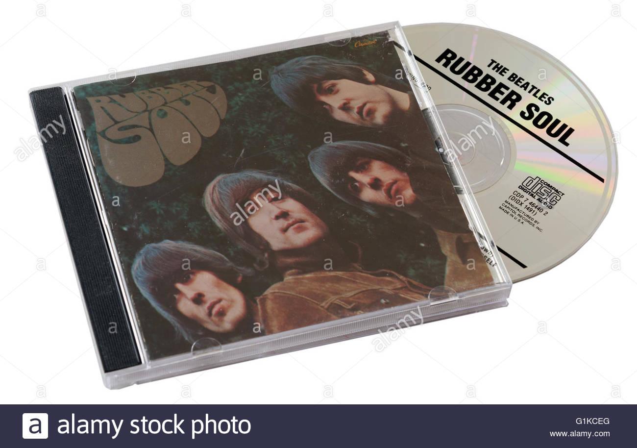 Beatles Rubber Soul CD - Stock Image