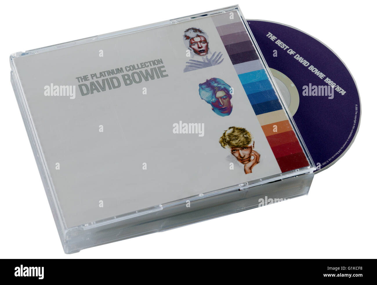 David Bowie The Platinum Collection CD - Stock Image