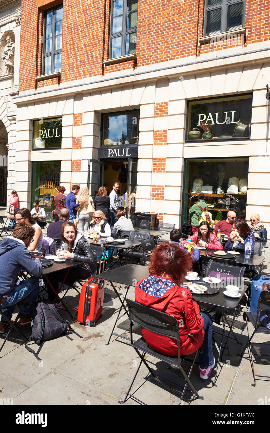 Paul French Bakery And Patisserie Next To St Paul's Cathedral Paternoster Row London UK - Stock Image