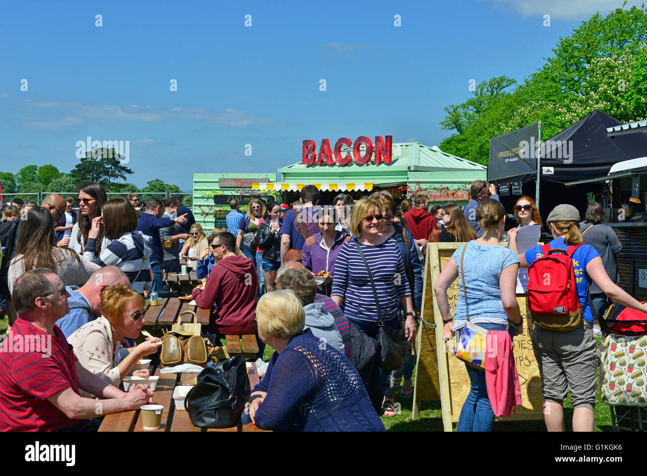 Bristol Foodie Festival Clifton Downs May 2016 on a hot sunny day - Stock Image