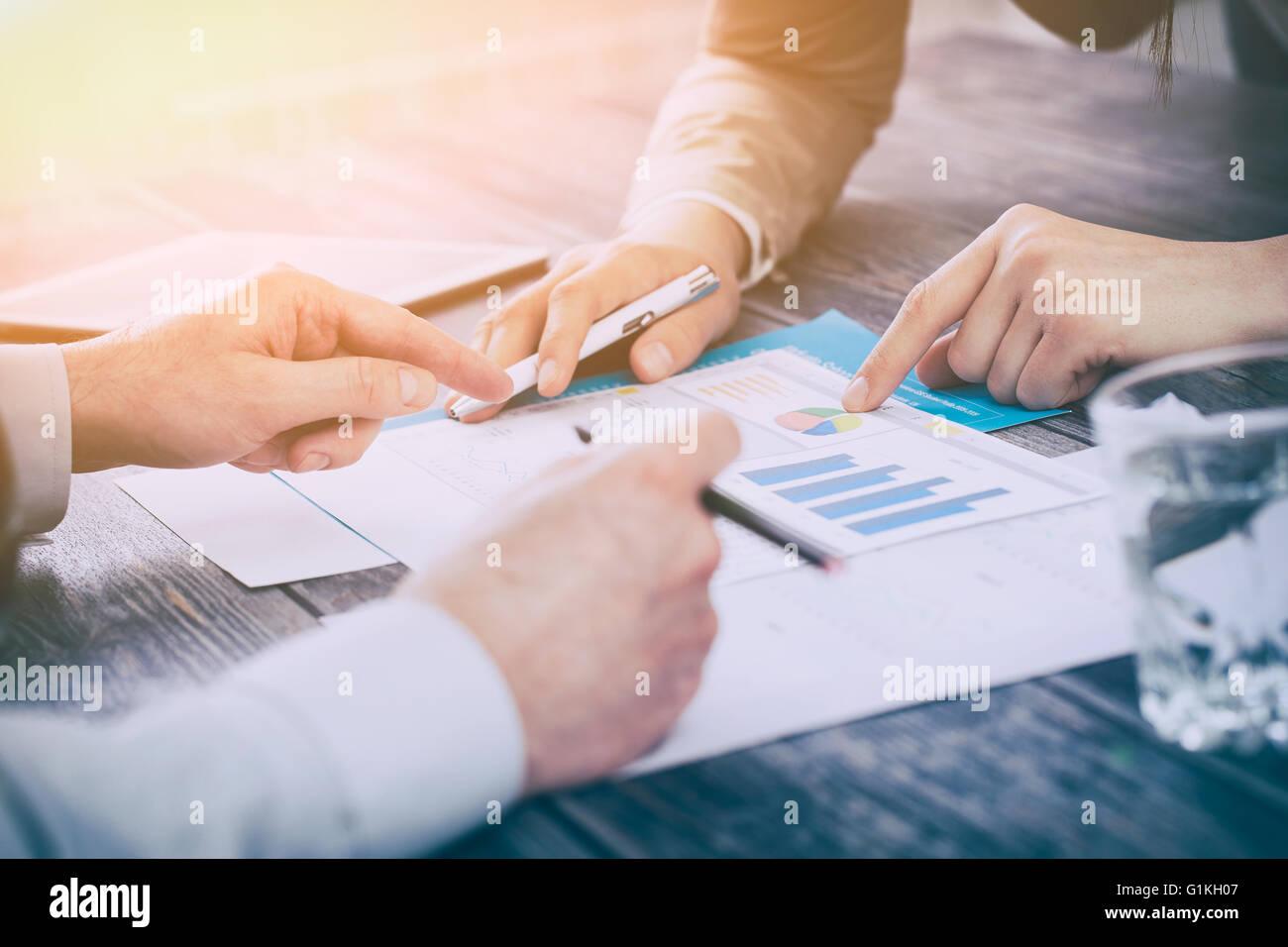 business meeting plan report human market success training - stock image - Stock Image