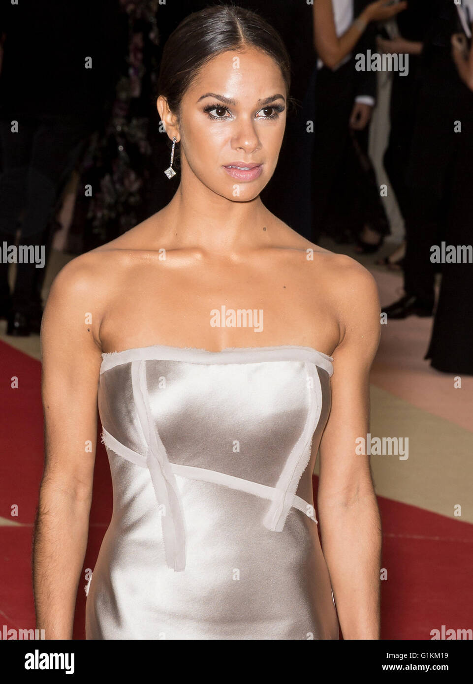 New York City, USA - May 2, 2016: Misty Copeland attends the 2016 Met Gala - Stock Image
