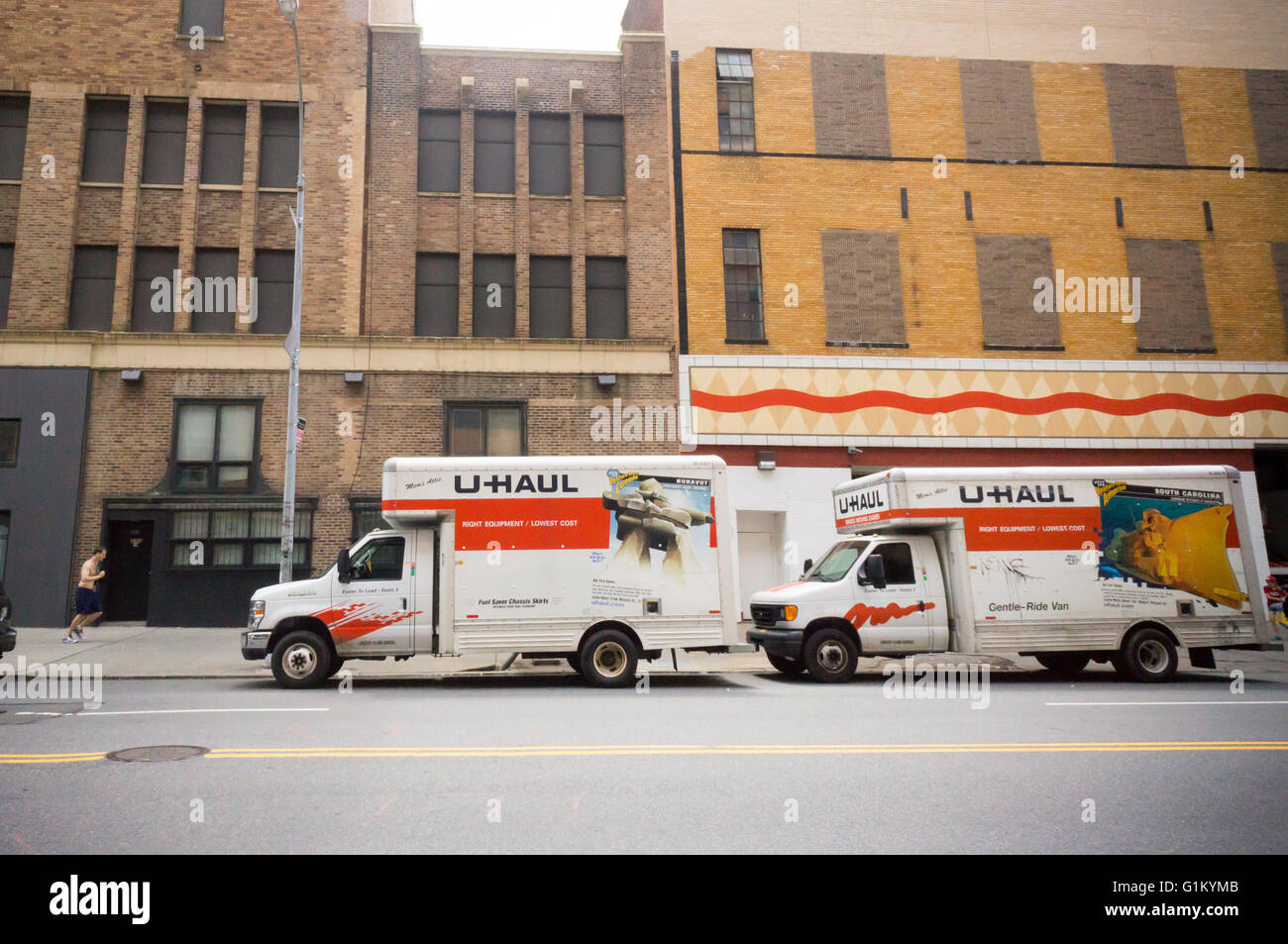 U Haul Self Moving Trucks Parked In The Chelsea Neighborhood Of New York On  Saturday, May 14, 2016. U Haul, A Brand Of Amerco, Is The Largest Moving And  ...