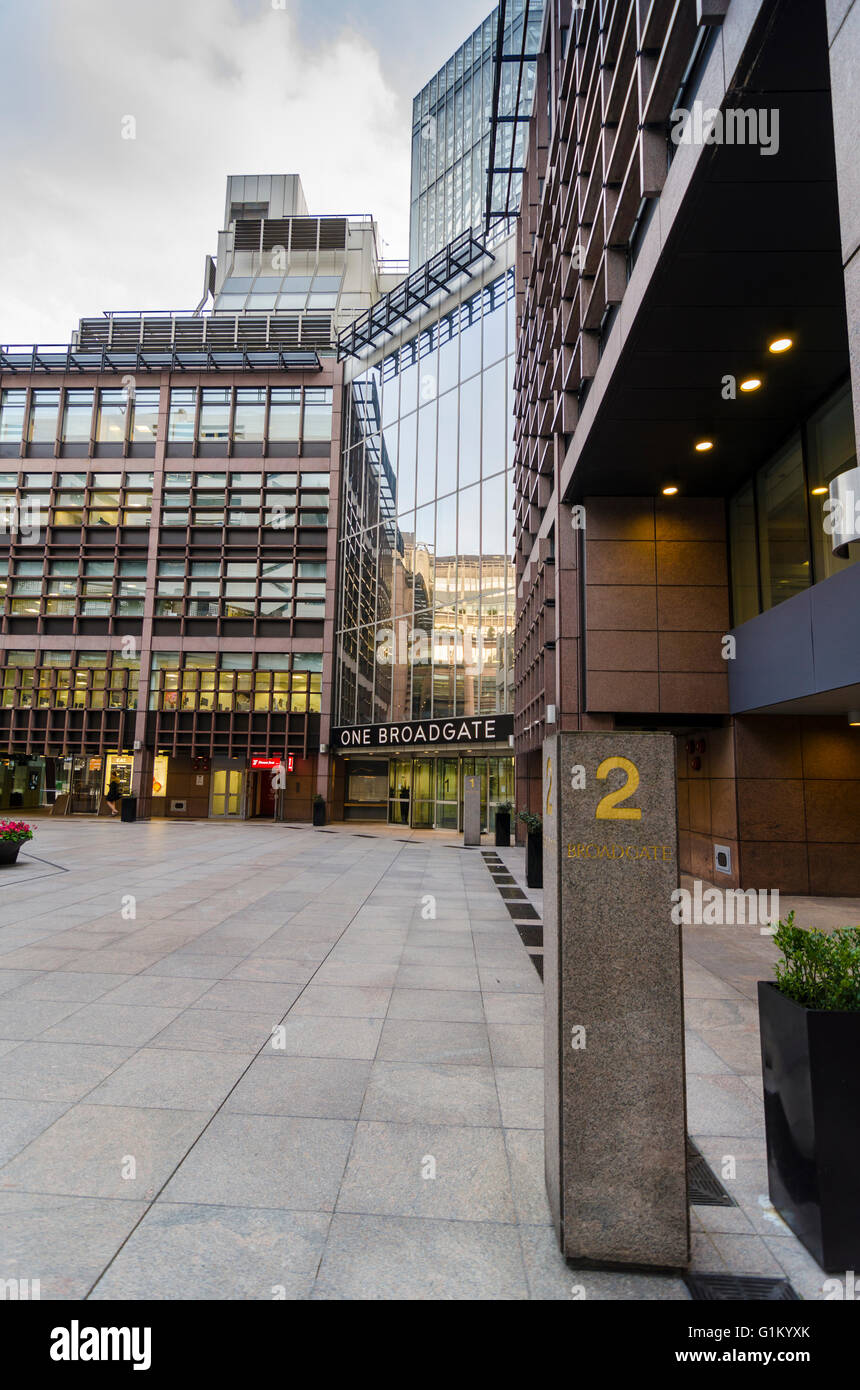 One Broadgate Circle, London - Stock Image