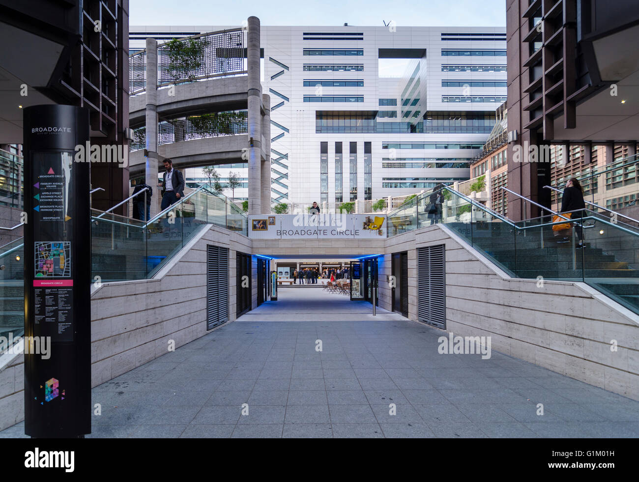 Broadgate Circle, London - Stock Image