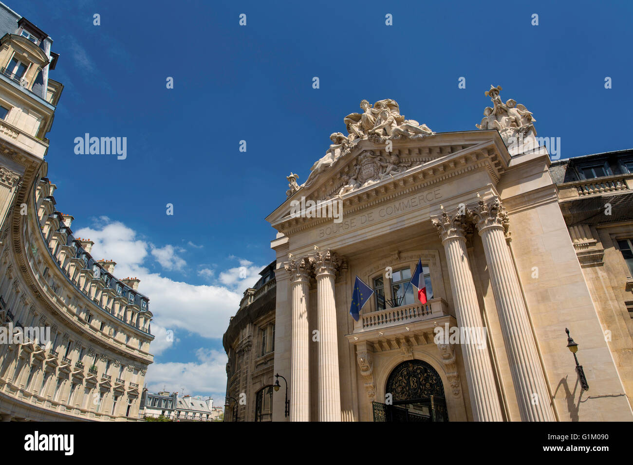 Bourse de Commerce building b.1767, originally a commodities trade center, now the Chamber of Commerce, Paris, France - Stock Image