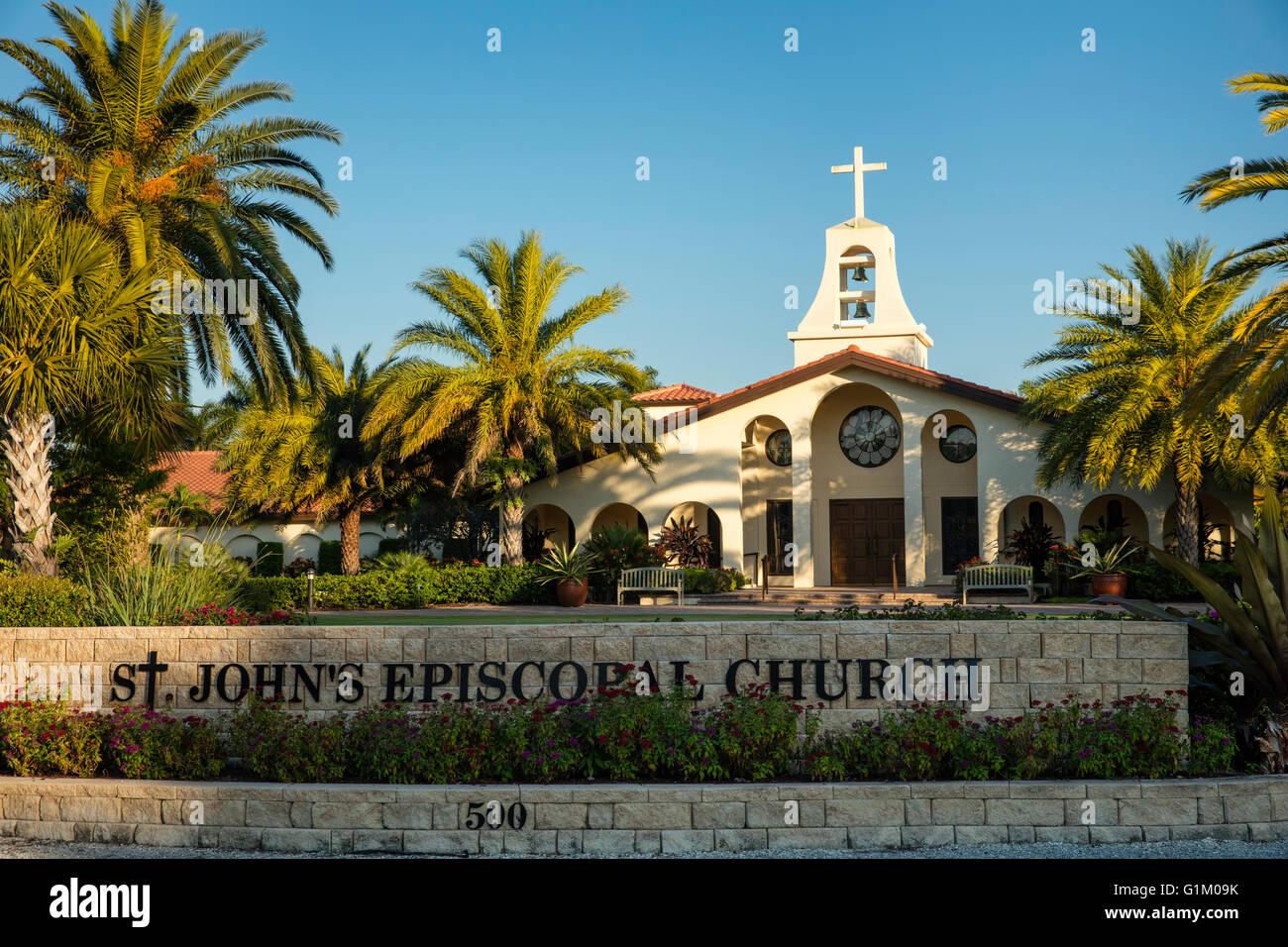 St. John's Episcopal Church, Naples, Florida, USA - Stock Image