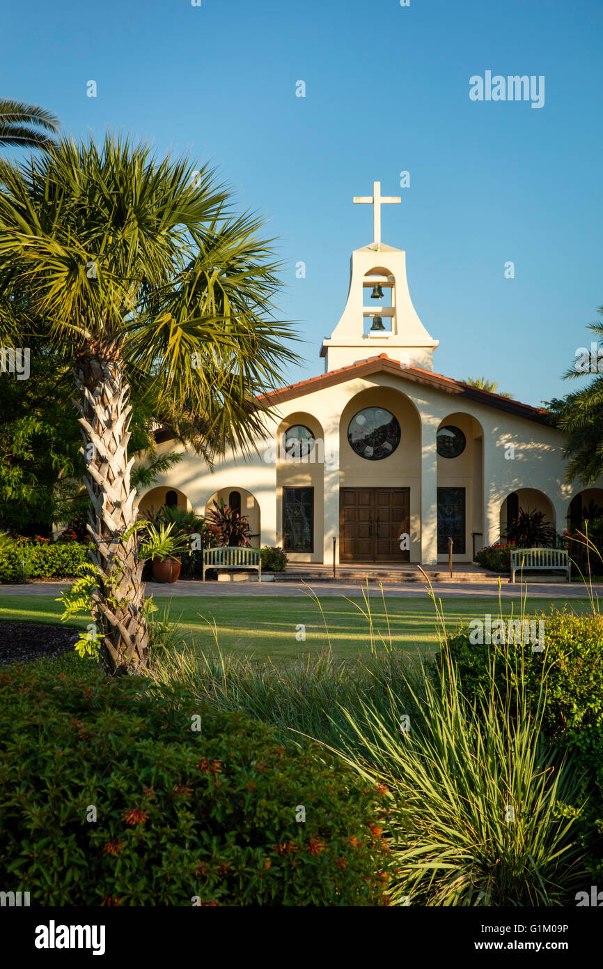 St. John's Episcopal Church, Naples, Florida, USA - Stock Image