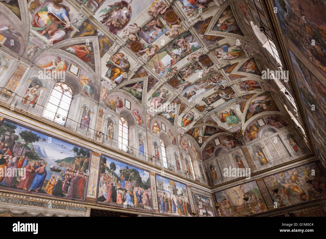 The Sistine Chapel Ceiling Stock Photo Royalty Free Image