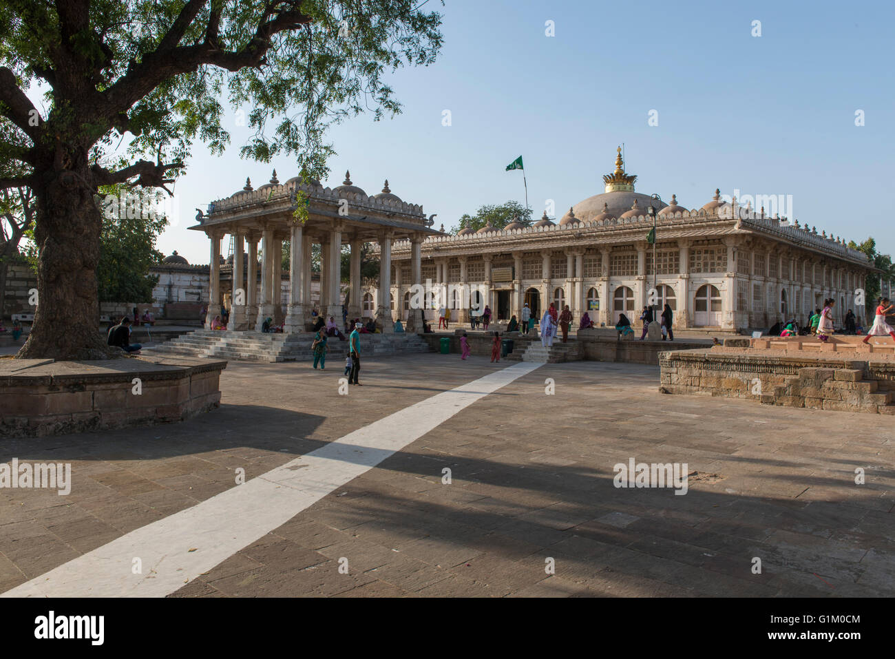 View Of Outside Architecture, Sarkhej Roza, Ahmedabad - Stock Image