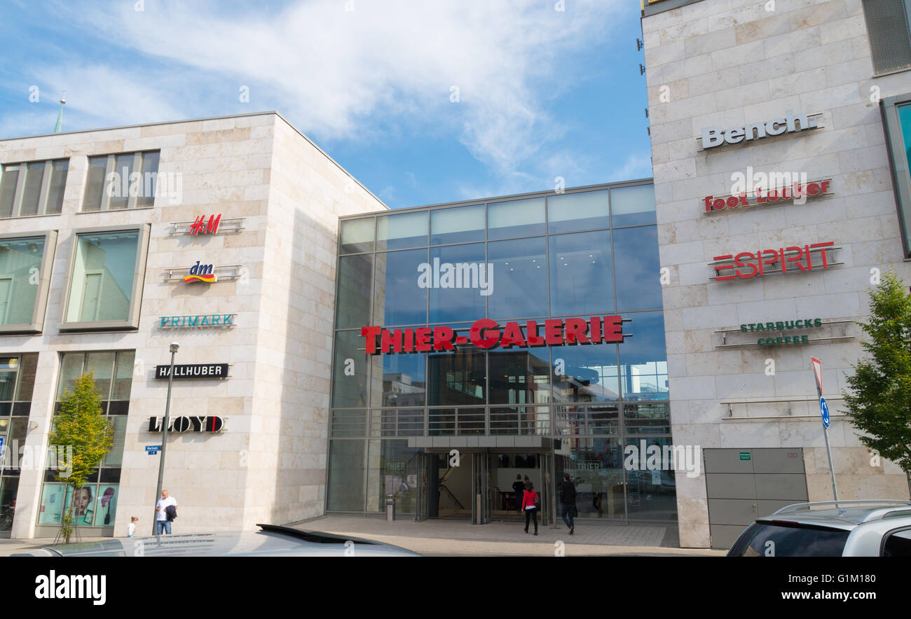 Entrance Of The Thier Galerie Shopping Mall In Dortmund Germany Stock Photo Alamy