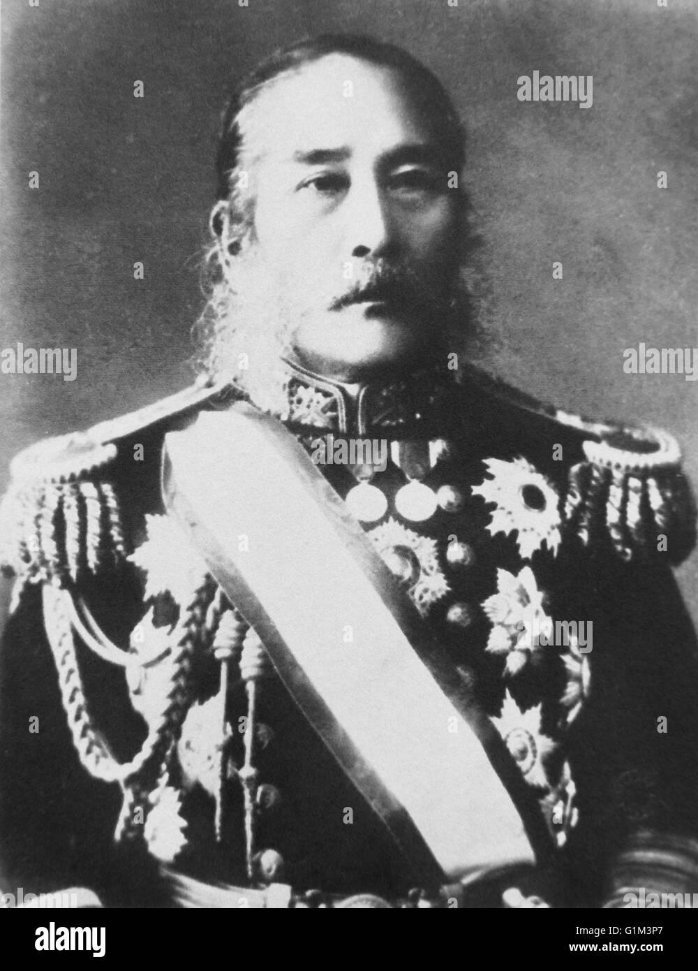 Portrait of Takeaki Enomoto (5 October 1836 – 26 October 1908) - Stock Image