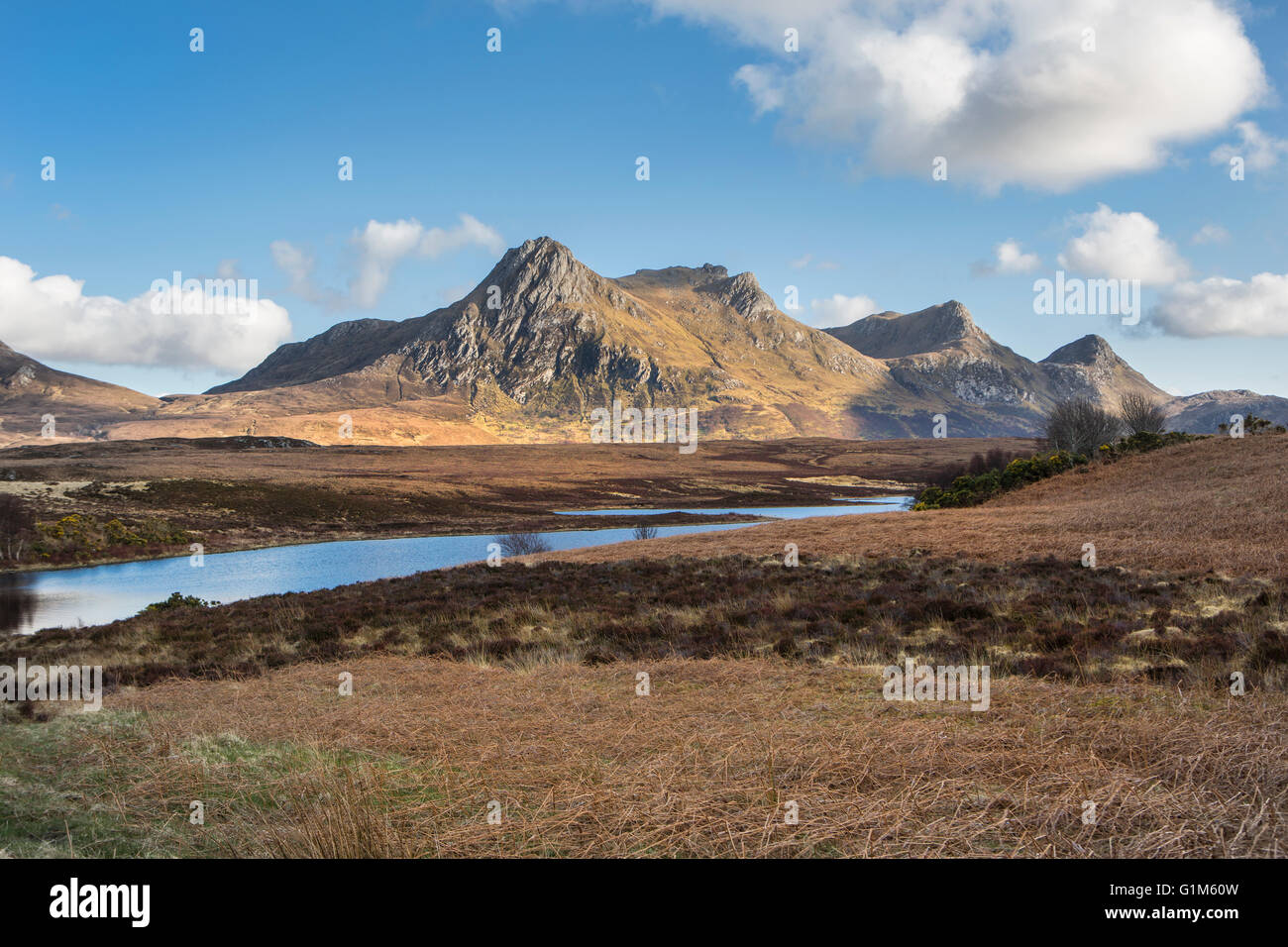 Scottish hills in the Northern Highlands - Stock Image
