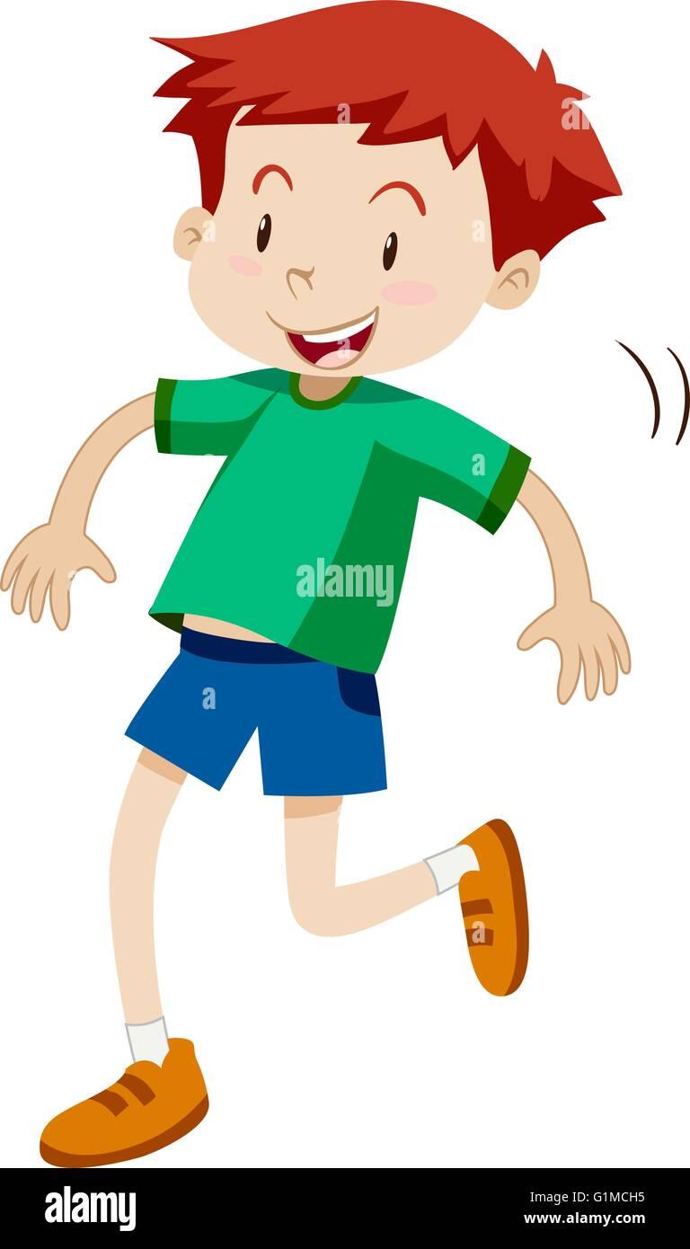 little boy hopping alone illustration stock vector art