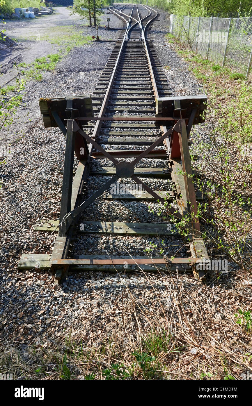 end of the rails - Stock Image
