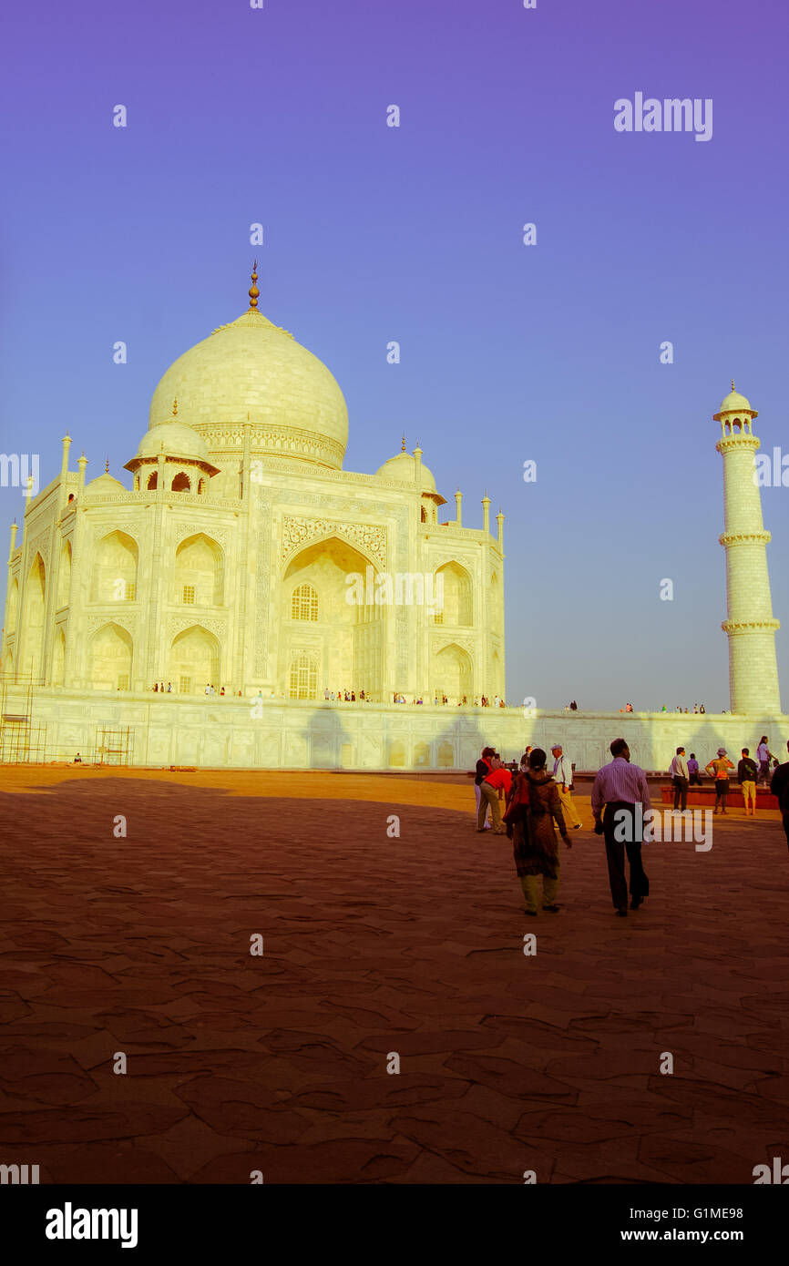 The Taj Mahal. Agra, Uttar Pradesh, India. - Stock Image