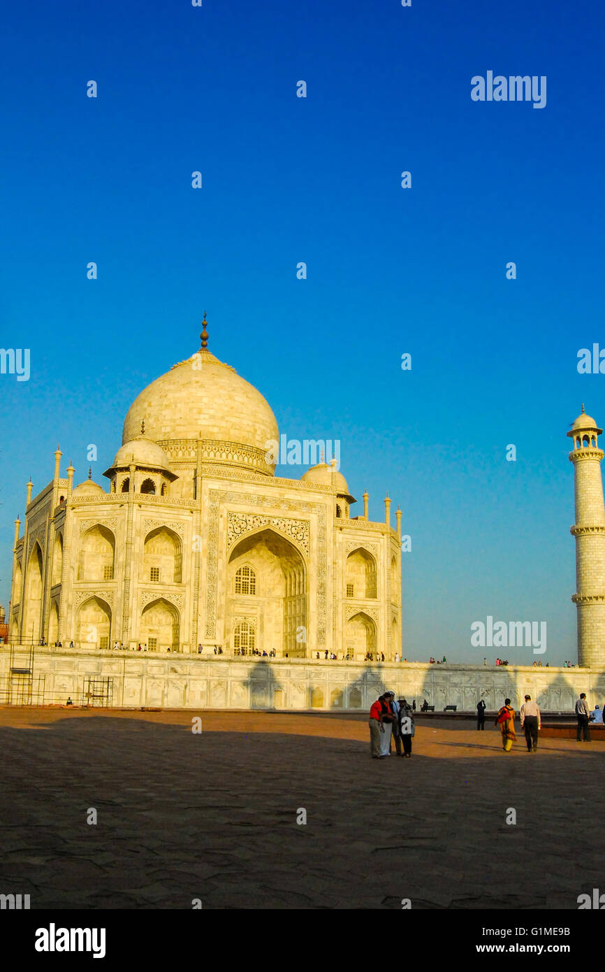 The Taj Mahal. Agra, Uttar Pradesh, India. Stock Photo
