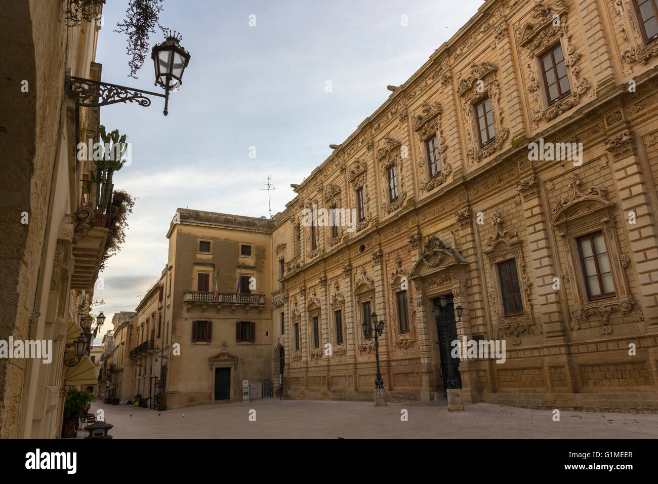 Lecce, the Celestine palace. Baroque style Stock Photo
