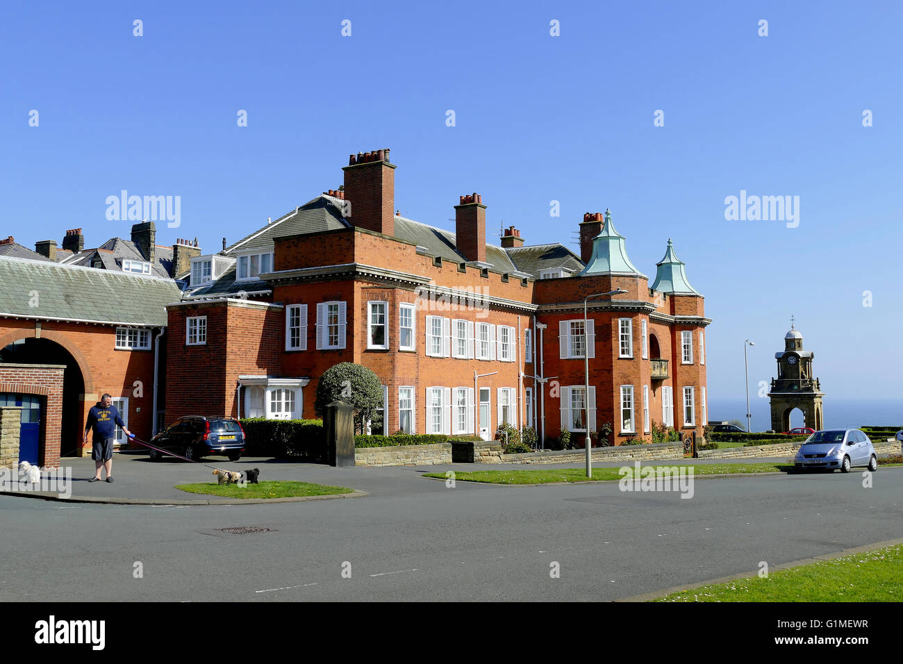 SCARBOROUGH, YORKSHIRE, UK. MAY 09, 2016.  The hospital film location for ' The Royal ' television series - Stock Image
