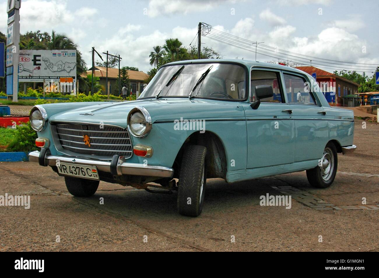 Old Car 1960 S Build But Great Maintained French Peugeot Car In Its Stock Photo Alamy