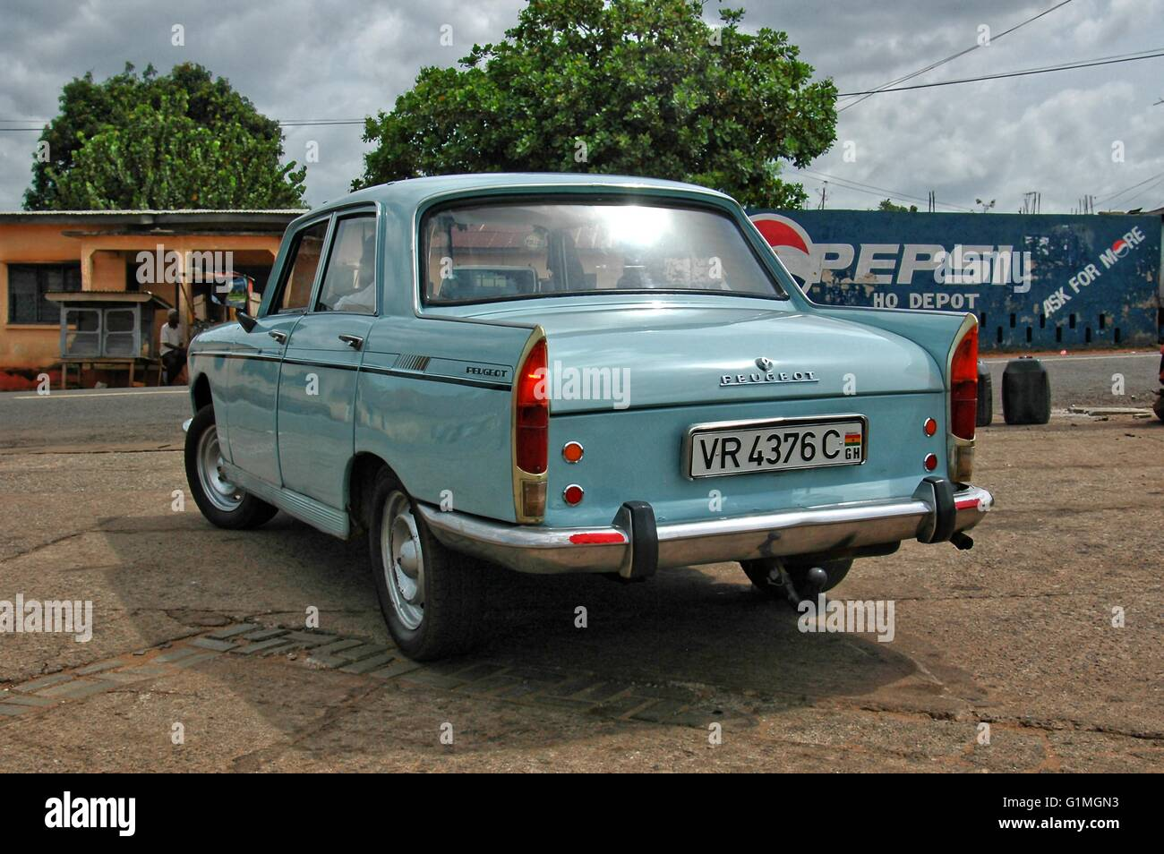 Old car 1960`s build, but great maintained French Peugeot car, in ...