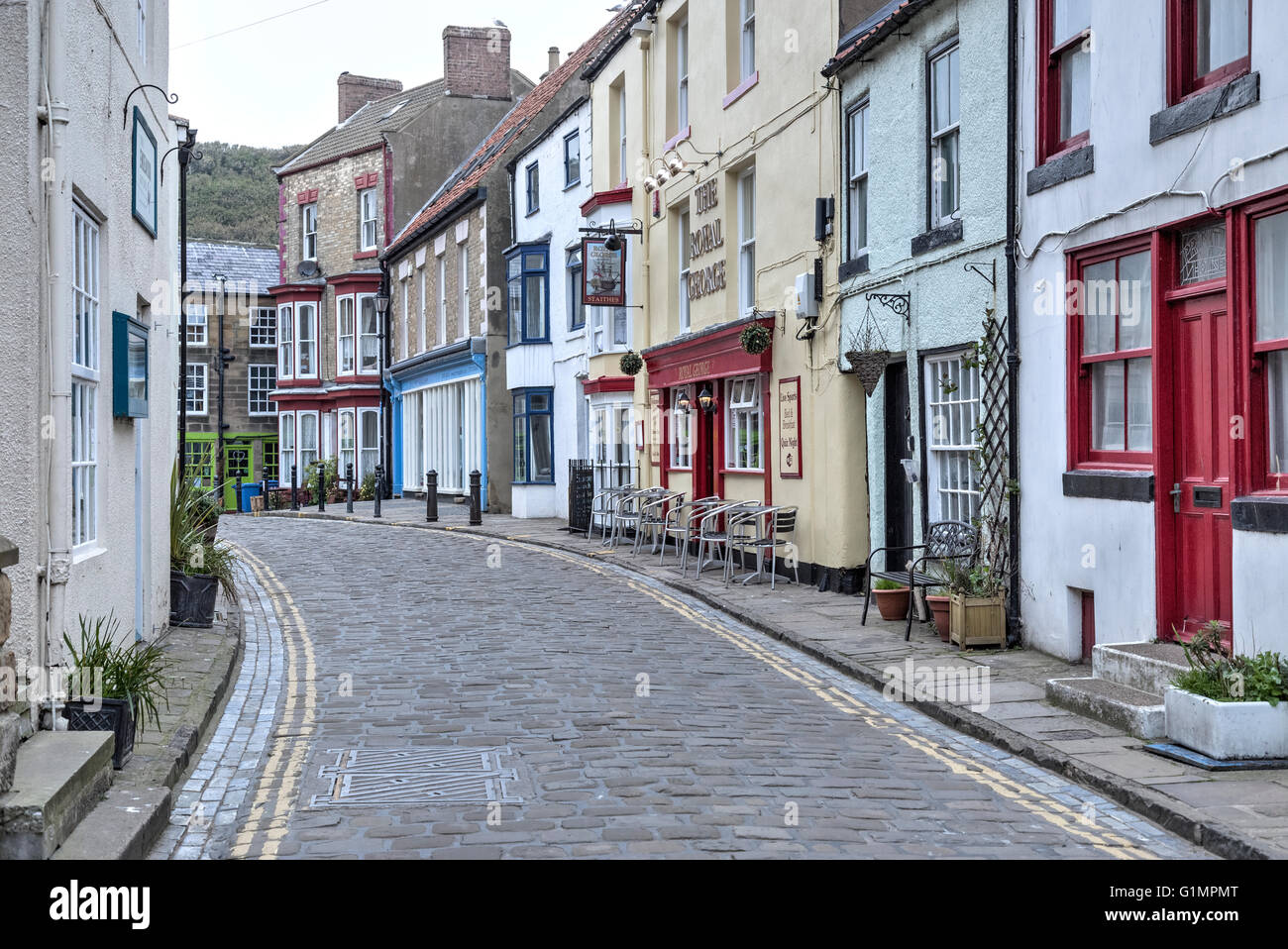 Staithes, Scarborough, Yorkshire, England, UK - Stock Image