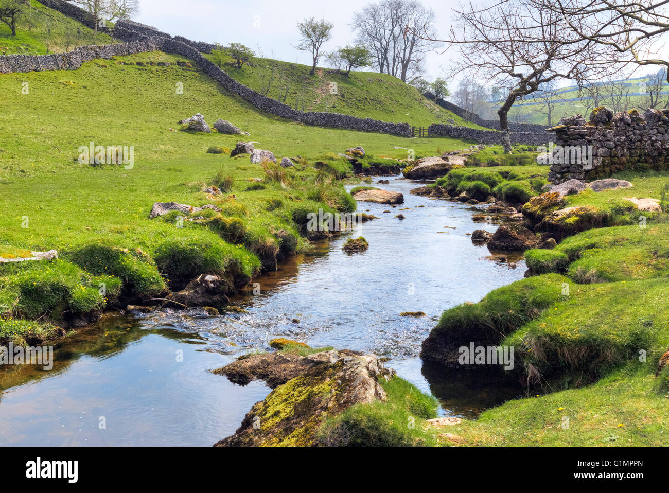 Malham Cove, Malham; Craven; North Yorkshire; England; UK; - Stock Image