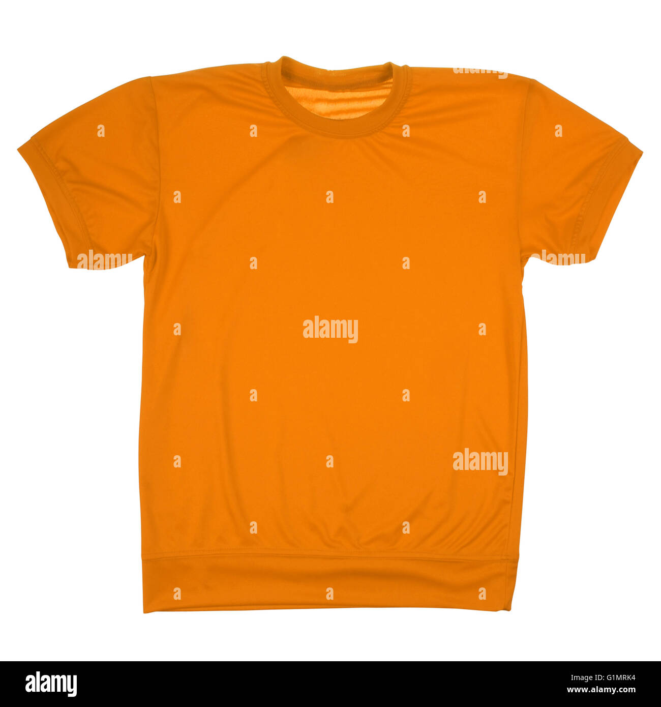 aa6de7399 Orange blank t-shirt isolated on white. Clipping path inside. Ready for  your logo or artwork.