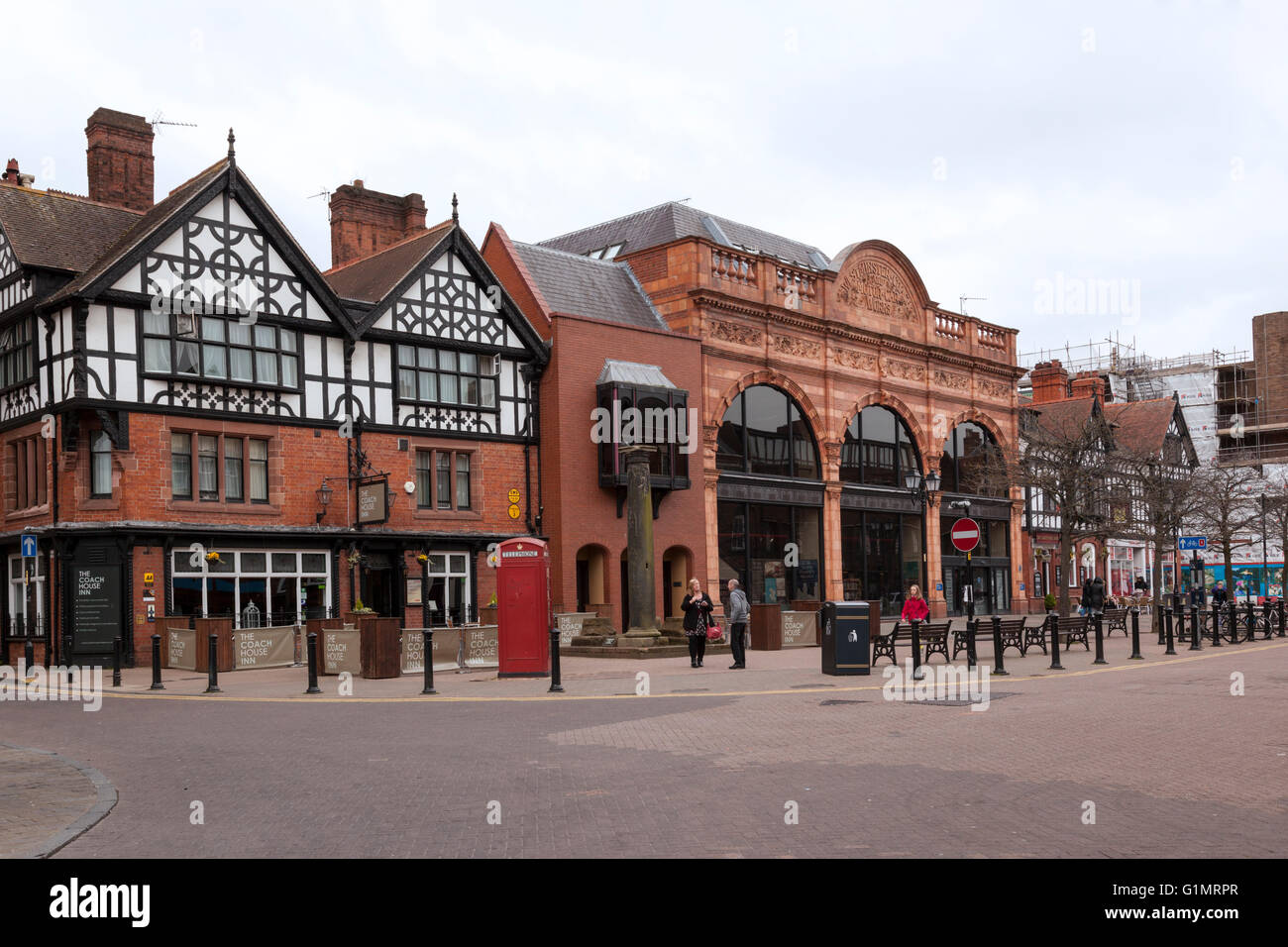 Westminster Coach and Motor Car Works, Coach House Inn, Chester, Cheshire, England - Stock Image